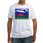 Sunset Fitted T-Shirt