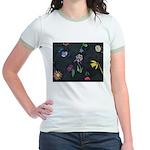 Scattered Flowers Jr. Ringer T-Shirt