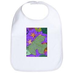 Fallen Leaves (purple) Bib