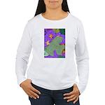 Fallen Leaves (purple) Women's Long Sleeve T-Shirt