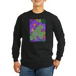 Fallen Leaves (purple) Long Sleeve Dark T-Shirt
