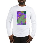 Fallen Leaves (purple) Long Sleeve T-Shirt
