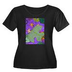 Fallen Leaves (purple) Women's Plus Size Scoop Nec