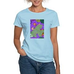 Fallen Leaves (purple) Women's Light T-Shirt