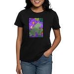 Fallen Leaves (purple) Women's Dark T-Shirt