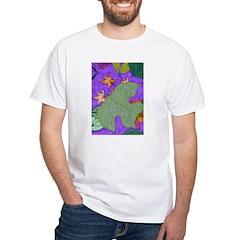 Fallen Leaves (purple) White T-Shirt