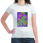 Fallen Leaves (purple) Jr. Ringer T-Shirt