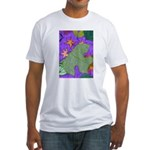 Fallen Leaves (purple) Fitted T-Shirt
