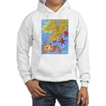 Fallen Leaves (blue) Hooded Sweatshirt