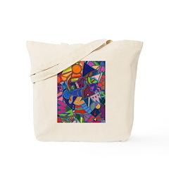 Three Petals (pink) Tote Bag