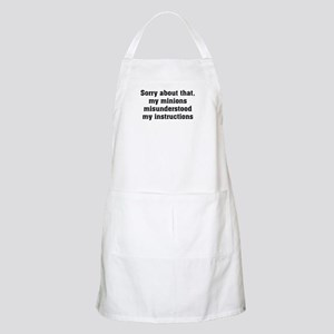 Sorry About Minions BBQ Apron
