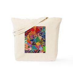 Three Petals (peach) Tote Bag