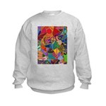 Three Petals (peach) Kids Sweatshirt