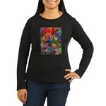 Three Petals (peach) Women's Long Sleeve Dark T-Sh