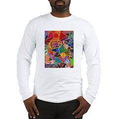 Three Petals (peach) Long Sleeve T-Shirt