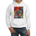Three Petals (peach) Hooded Sweatshirt