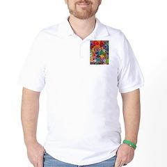 Three Petals (peach) Golf Shirt