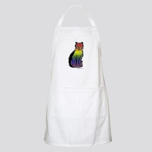 Rainbow Gay Pride Cat BBQ Apron
