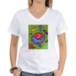 Seeing Comb Women's V-Neck T-Shirt
