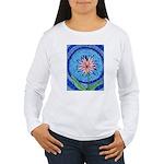 Flower Aura Women's Long Sleeve T-Shirt