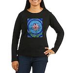Flower Aura Women's Long Sleeve Dark T-Shirt