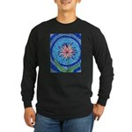 Flower Aura Long Sleeve Dark T-Shirt