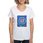Flower Aura Women's V-Neck T-Shirt