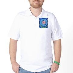 Flower Aura Golf Shirt