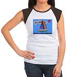 Floating Boat Women's Cap Sleeve T-Shirt