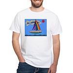 Floating Boat White T-Shirt