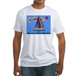 Floating Boat Fitted T-Shirt