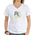 Orchid in Repose Women's V-Neck T-Shirt