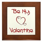 Be My Valentine Framed Tile