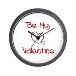 Be My Valentine Wall Clock