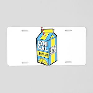 Lyrical Lemonade Aluminum License Plate