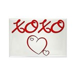 XOXO Heart Rectangle Magnet (100 pack)