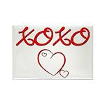 XOXO Heart Rectangle Magnet