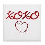 XOXO Heart Tile Coaster