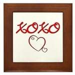 XOXO Heart Framed Tile