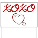 XOXO Heart Yard Sign