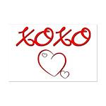 XOXO Heart  Mini Poster Print