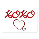 XOXO Heart Postcards (Package of 8)