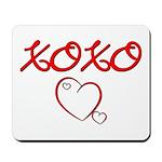 XOXO Heart Mousepad