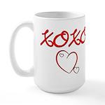 XOXO Heart Large Mug