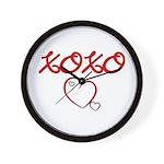 XOXO Heart Wall Clock