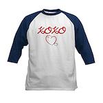 XOXO Heart Kids Baseball Jersey