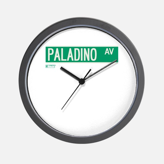 Paladino Avenue in NY Wall Clock