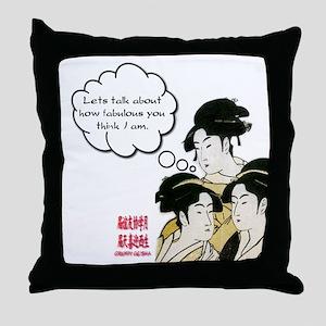 Geisha Attitude Throw Pillow