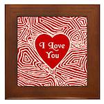 I Love You Heart Framed Tile
