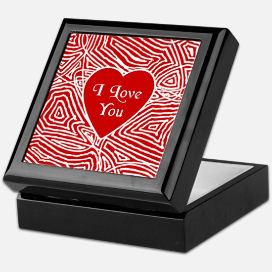 I Love You Heart Keepsake Box